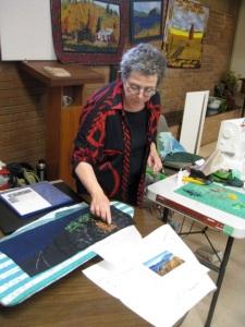 Gail Hunt making confetti