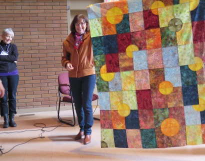 Ilse and a Circle Play Quilt Top