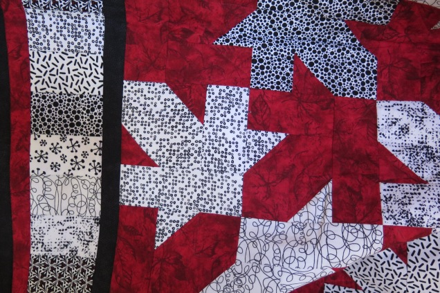Detail - Linda's Quilt of Valour - A Tessellating Design