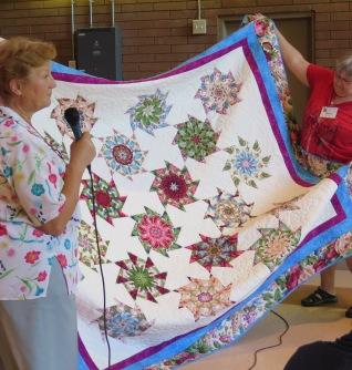 Sonia's Stack and Whack Quilt, Garden Quilt Winner, June Luncheon