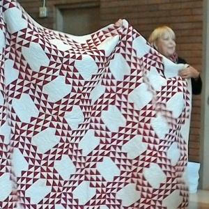 Joan's Turkey Red quilt