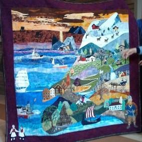 Elaine's Norwegian heritage quilt