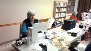 Glenna, Community Quilt Day