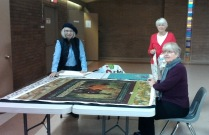 Les, Anne, Marianne, Community Quilt Day