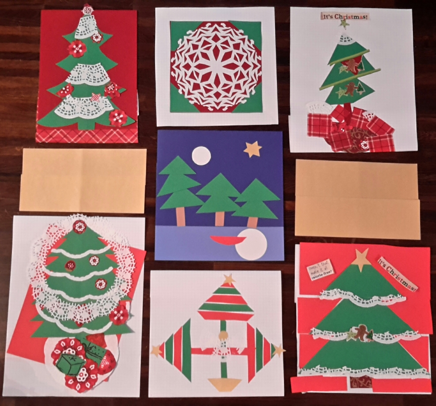 Christmas quilt from luncheon Dec 2015