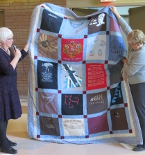Marilyn's memory quilt for a friend