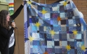 """Lori's quilt - """"Everybody Gets the Blues"""" - a Carol Piercy pattern"""