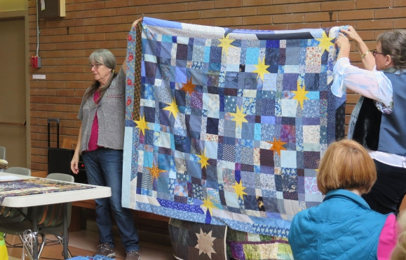 """Carol Piercy's pattern - """"Everybody Gets the Blues"""" - a quilter's favourite"""