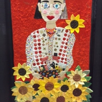 """Fond of Outings, Quilting, Flowers and Cats by Naoko Hirano of Japan ... """"The key to enjoying life on on's own is being motivated and having a drawer full of curiosity."""""""