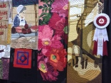 "Partial - Slices of Market Life by Margaret Notar, Waterloo, Ontario ... ""a quilted tribute"" to a burned marketplace."