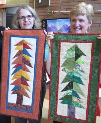 Linda and Moira, Wonky Tree Workshop