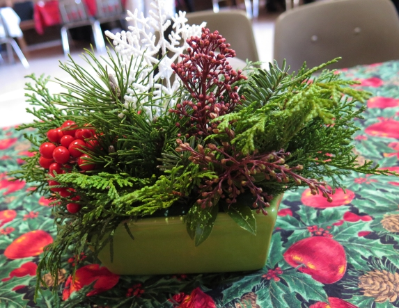 table centrepieces by Linda F & Elaine T