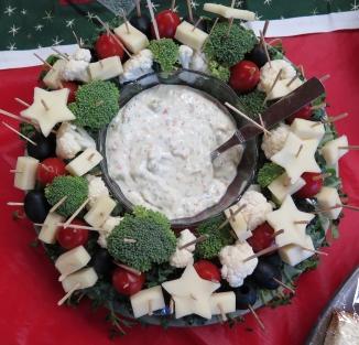 Anne W's edible wreath