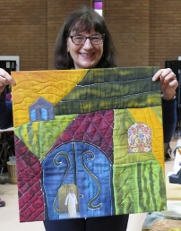 Ilsa's fabric art, inspired by her Morocco visit