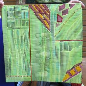 Isabelle J's fabric art
