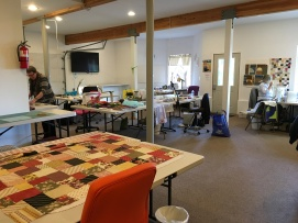 the quilting room; Les's project