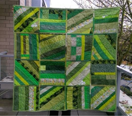 Diane's quilt-as-you-go - front