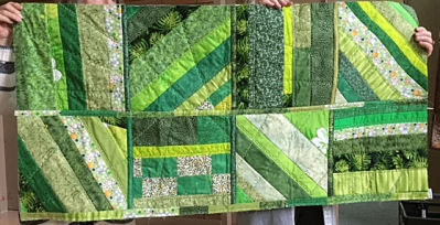 Diane's quilt - quilt as you go