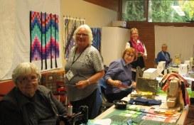 Bev, Marilyn, Barb, Anne, Eleanor, Bargello Workshop