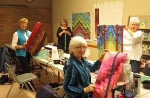 Moira, Linda, Les and Glenna, Bargello Workshop