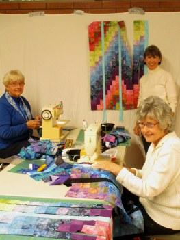 Eleanor, Lorna and Lynne, Bargello Workshop