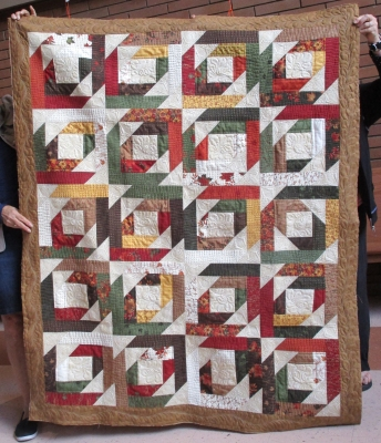 Quilt of Valour, machine quilted by Norine