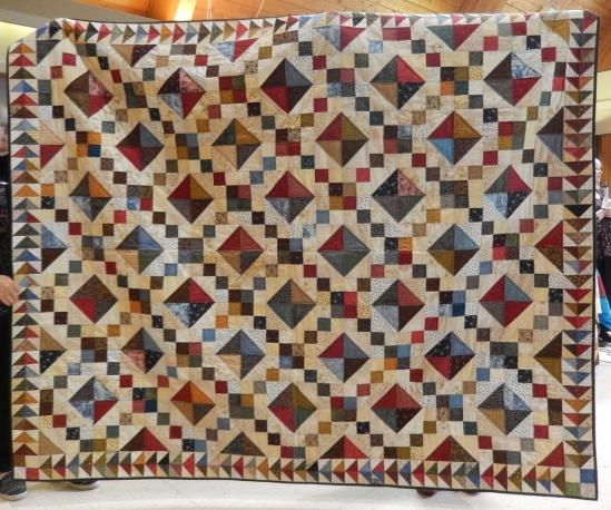 presenter Julie Plotniko's favourite quilt - fabric from six decades