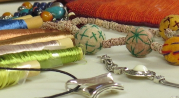 souvenirs from a textile tour to Morocco - Bev, Ilse and Isabelle's presentation
