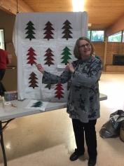 Linda - winner of the December blocks of the month