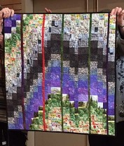 Anne W's bargello quilt