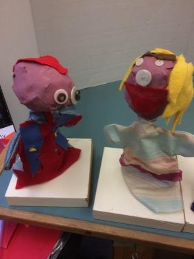 Comm Quilt - Grade 1 puppets - 2