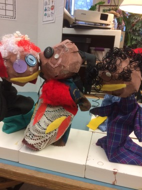 Comm Quilts - Grade 1 puppets - 1