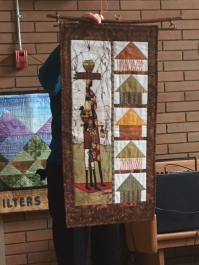 Linda F's African themed quilt; Pippa Moore fabric