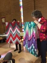 Judy P's bargello quilt (left) Esther's bargello quilt (right)