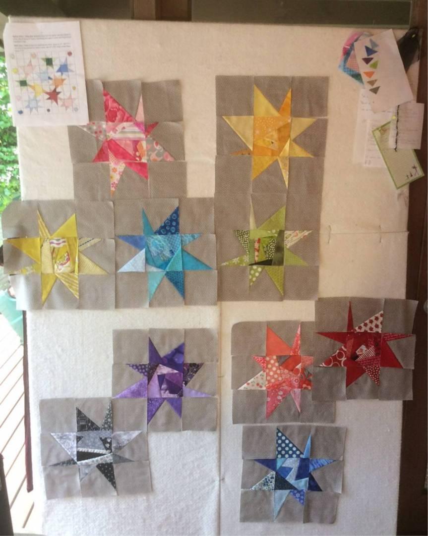 Workshops - wonky stars - Linda D more blocks