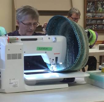 Clothesline bag workshop - Katherine G and Anne W