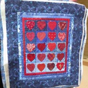 miniature quilt hearts