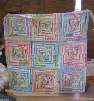 narrow strips in a larger quilt