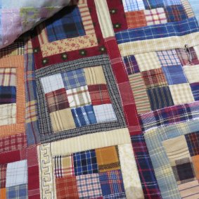 miniature quilt in flannels