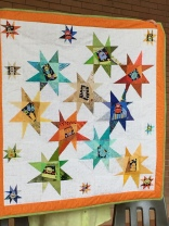 Lorna's wonky star quilt
