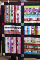 Comm Quilt black sash stripes Feb18