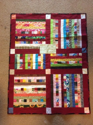 Community Quilts yellow-scrappy stripes